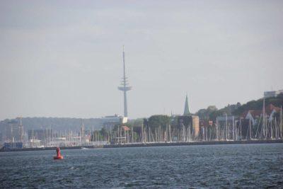 Blick von der Kieler Förde auf Kiel