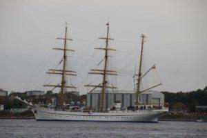 Kieler Förde Segelschiff Gorch Fock in Kiel