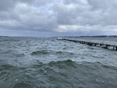 Kieler Förde Kiellinie Hochwasser