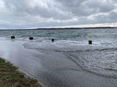 Holtenau Hochwasser Sturm Februar 2021