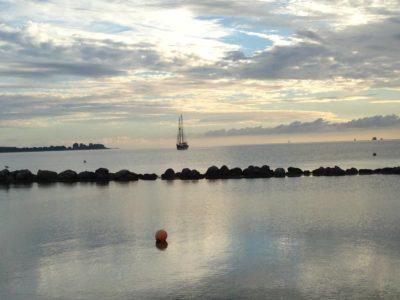 Segelboot in Kiel-Schilksee