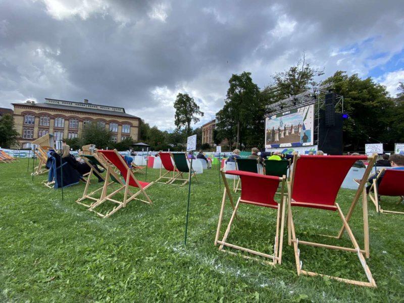 Kieler Schlossgarten Großbildleinwand Kieler Woche 2020