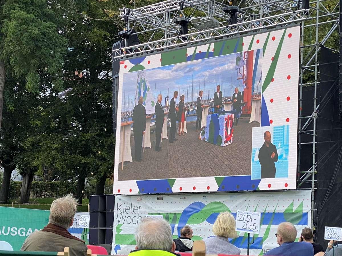 Schlossgarten Kiel Video-Leinwand Kieler Woche 2020