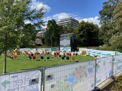 Kieler Woche 2020 Schlossgarten Video-Leinwand