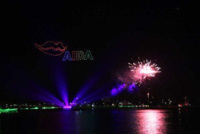 Kieler Woche Feuerwerk 2021 AIDA Drohnen Show