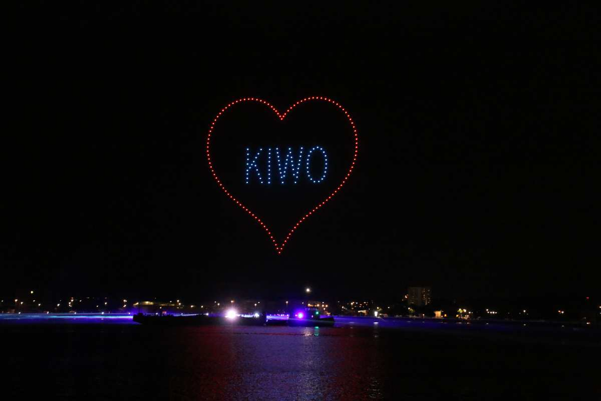 Drohnenshow Kieler Woche Feuerwerk 2021 KIWO Herz