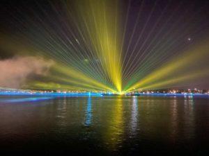 Kieler Woche Feuerwerk 2021 Lichtshow Laser