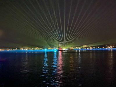 Kieler Woche 2021 Lichtshow Laser am 13.09.2021