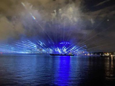 Kieler Woche 2021 Lichtshow 12.09.2021