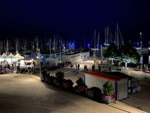 Kieler Woche 2021 Olympiahafen Schilksee am Abend