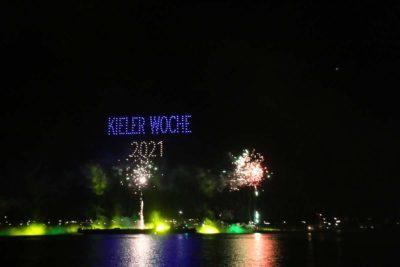 Drohnenshow Kieler Woche Feuerwerk 2021