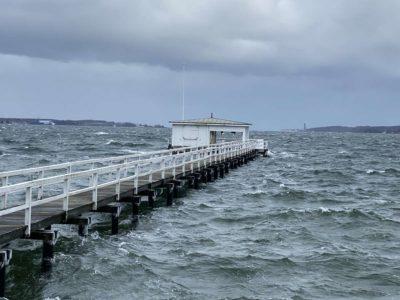 Bootssteg Kiellinie Kieler Förde Düsternbrook