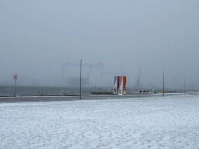 Kiellinie und Förde im Winter