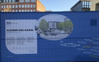 Kieler Kiel-Kanal Baustellenabsperrung