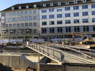 Kleiner Kiel-Kanal Brückenarbeiten Baustelle Holstenbrücke