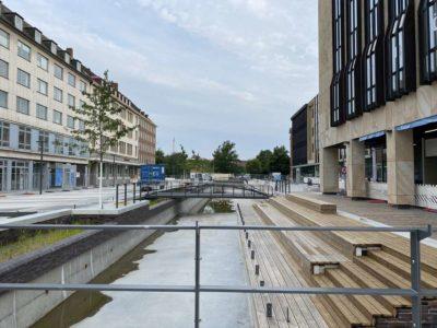 Kleiner Kiel Kanal Holstenbrücke Bauarbeiten