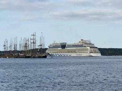 AIDA Luna verlässt Kiel Erstauslauf 05.09.2021