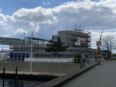 Ostseekai Kiel Baustelle Kreuzfahrtterminal