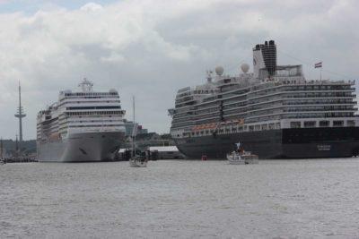 Kreuzfahrtschiffe Ostseekai Kiel zur Kieler Woche 2013