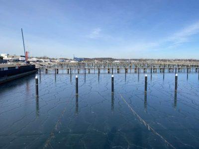 Winter Schilksee Hafen