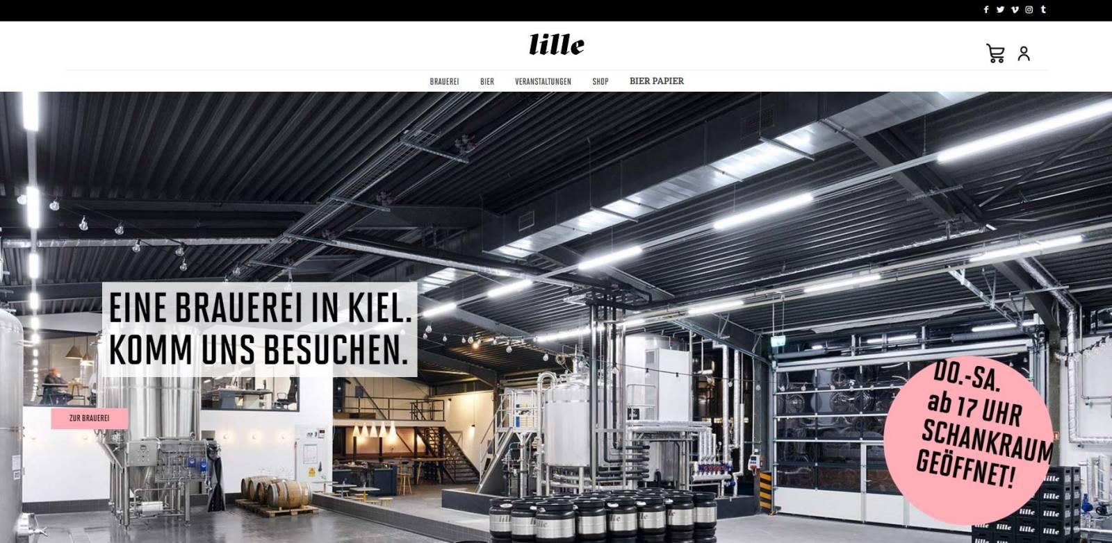 lille Brauerei Kiel Homepage