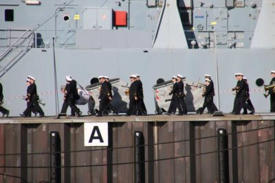Marinemusikkorps Kiel auf der Gorch-Fock-Mole
