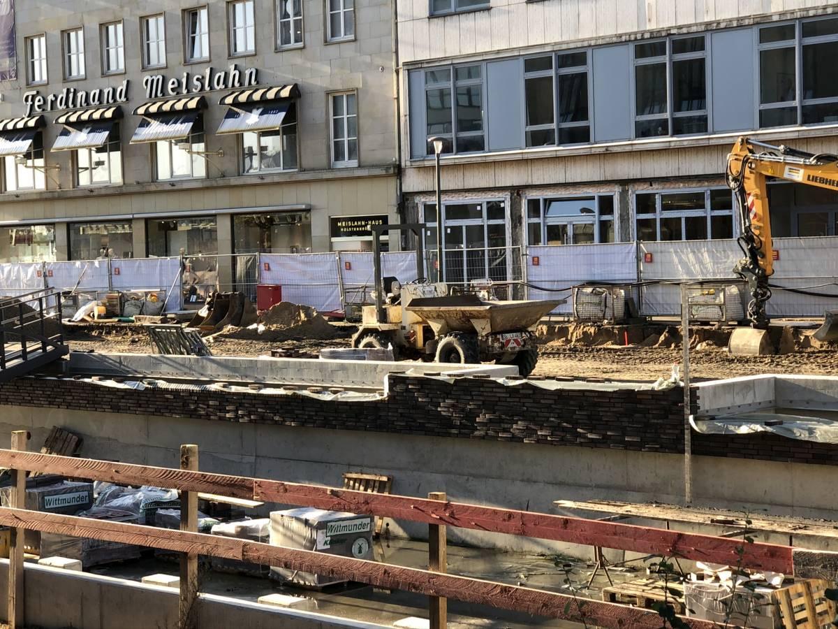 Baustelle Holstenbrücke Kiel Meislahn Arbeiten am Kleinen Kiel-Kanal