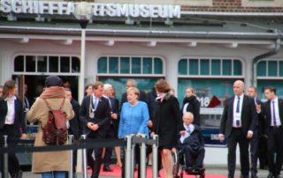 Angela Merkel & Ulf Kämpfer Kiel Tag der Einheit 2019 Kieler Schifffahrtsmuseum