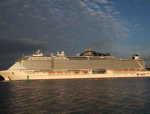 Kreuzfahrtschiff MSC Seaview verlässt Kiel am 03.07.2021