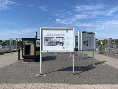 NOK Aussichtsplattform Kiel-Wik Informationstafeln