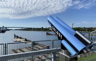 Nord-Ostsee-Kanal Kiel-Wik Aussichtsplattform Schleusenanlage