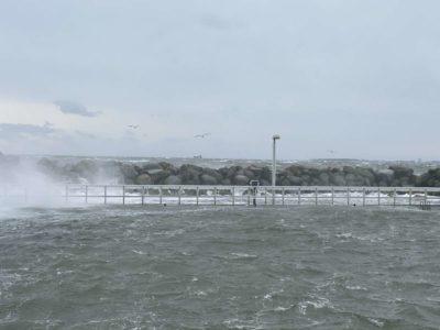 Olympiahafen Schilksee Wintersturm & Hochwasser