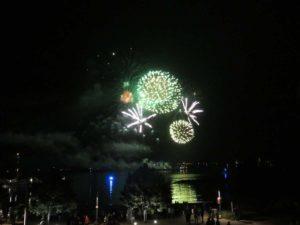 Olympiahafen Kiel-Schilksee Feuerwerk 07.09.2021