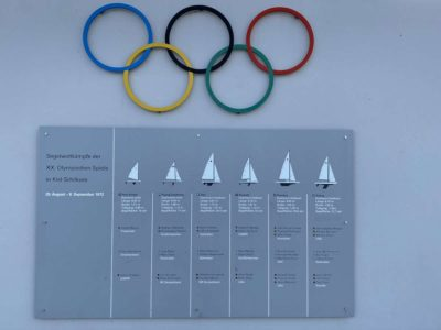 Olympiahafen Schilksee Hinweistafel Olympische Spiele 1972
