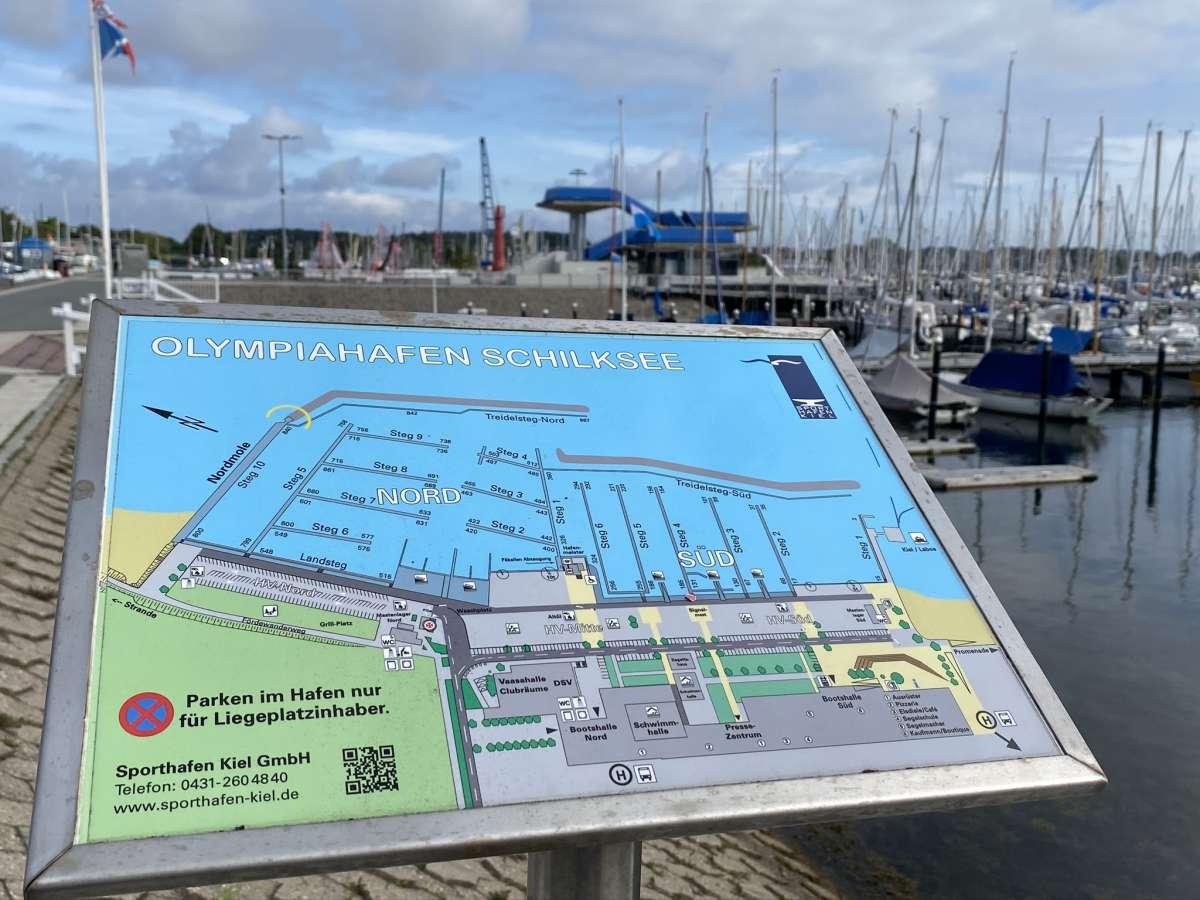 Olympiahafen Schilksee Lageplan