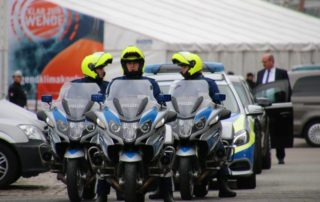 Polizeimotorräder