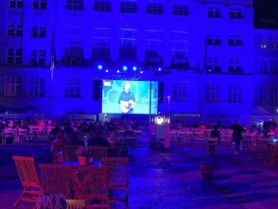 Kieler Woche 2020 Michael Schulte Live-Übertragung Rathausplatz Großbildleinwand