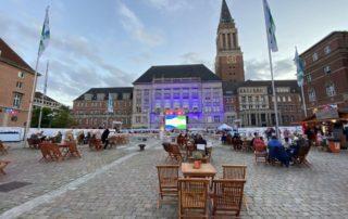 Kieler Woche 2020 Rathausplatz Großbildleinwand Michael Schulze Live-Übertragung