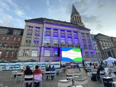 Kieler Woche 2020 Rathausplatz Konzert- und Kinofläche Live-Übertragung Michael Schulte