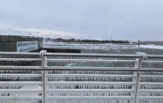 Eiszapfen Olympiazentrum Schilksee Sturm Tristan Februar 2021