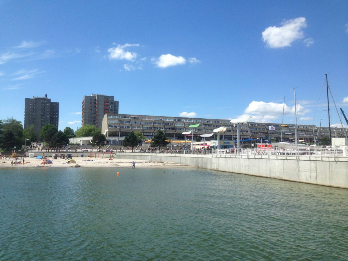 Strand am Olympiazentrum Kiel-Schilksee