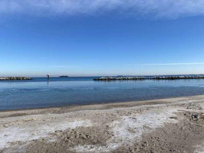 Strand Schilksee Sonnenschein im Winter