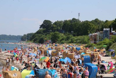 Schilksee Strand Sommerurlaub 2020 Kieler Förde