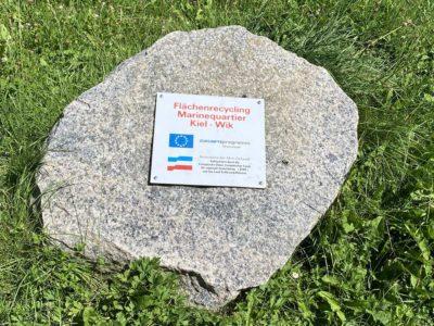 Schleusenpark Kiel Stein Zukunftsprogramm Wirtschaft