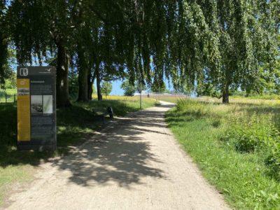 Schleusenpark Kiel Zugang Herthastraße Wik