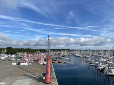 Schwenkkran & Boote Olympiahafen Schilksee