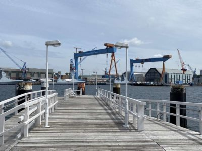 Seegartenbrücke Kiel Kieler Förde German Naval Yards