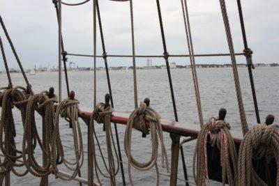 Segelschiff Nesselkutter Netzgetüdel