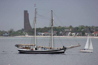 Segelschiffe in der Kieler Förde