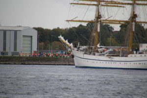 Segelschulschiff Gorch Fock in der Kieler Förde 04.10.2021